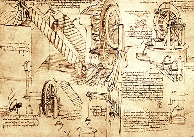 Leonardo Da Vinci's water lifting devices