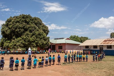 Primary school group exercise
