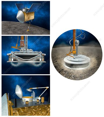 OSIRIS-REx asteroid sampling mechanism, illustration