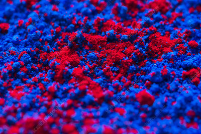 Blue and red artist's pigment
