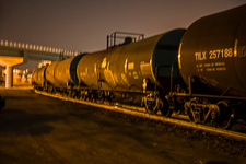 Railway tank cars, Denver, USA