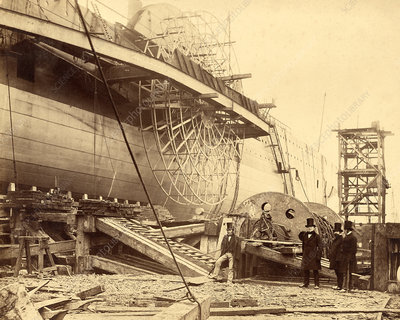 Construction of the SS Great Eastern, 1857