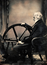 William Constable with steam power invention, 1850s