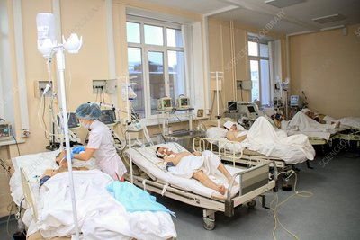 Alcohol poisoning ward, Russia