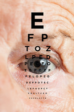 Eye test for the elderly, conceptual image