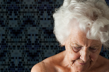 Genetics of ageing, conceptual image