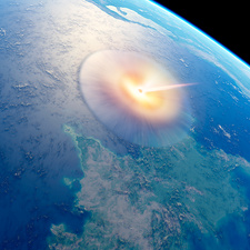 Chicxulub impact event, illustration