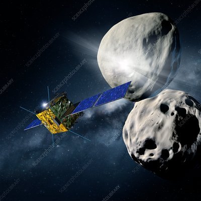Asteroid Impact Mission, illustration
