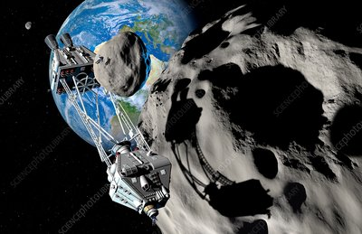 Asteroid mining, illustration