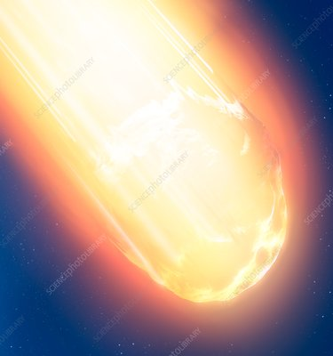 Meteor fireball, illustration