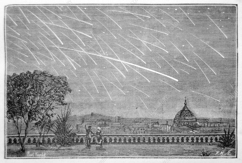 Meteor shower, 1878