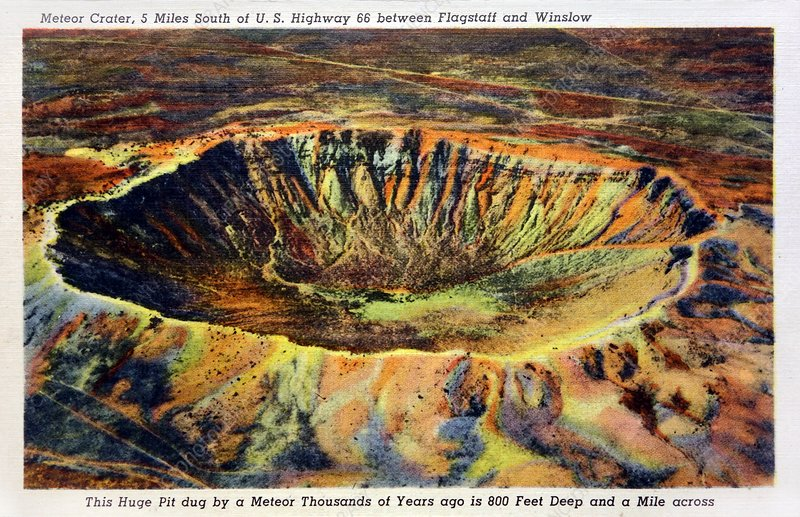Barringer Crater, 1930s postcard