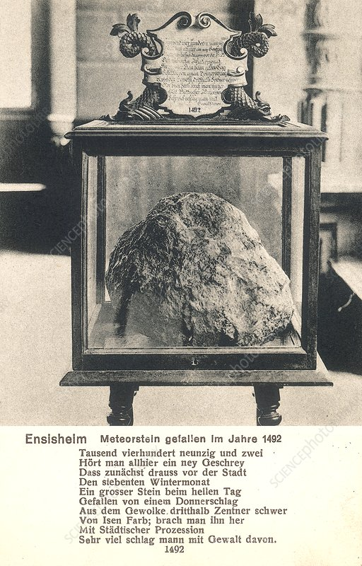 Display for Ensisheim meteorite of 1492
