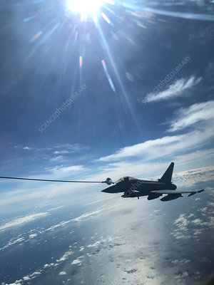 Eurofighter Typhoon fighter jet refuelling