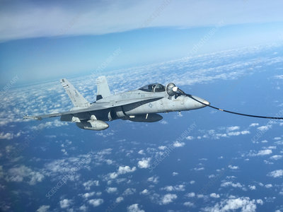 F-18 Hornet fighter jet refuelling