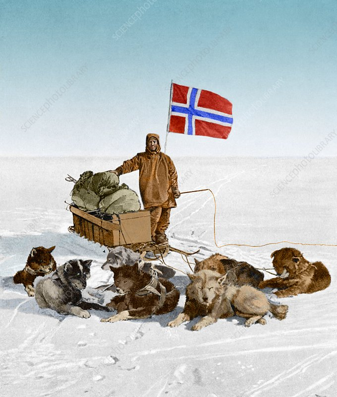 Amundsen at the South Pole