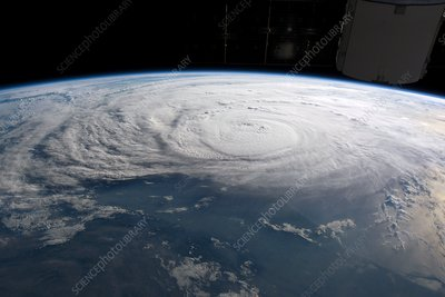 Hurricane Harvey from the ISS, August 2017