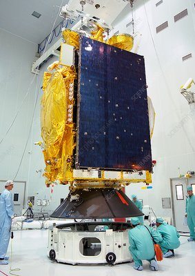 Stellat 5 satellite payload preparation