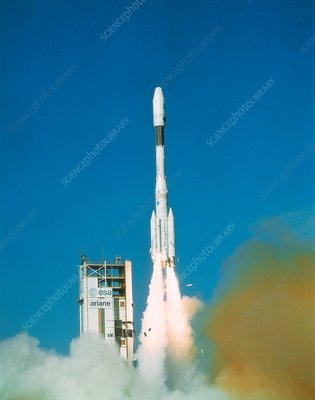 First Ariane 4 launch, 1988