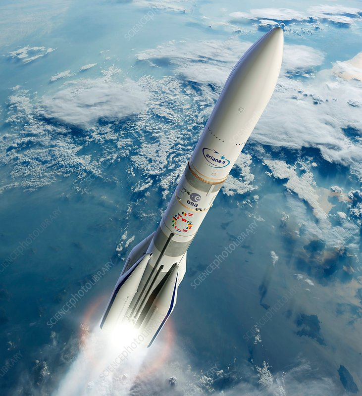 Ariane 6 rocket launch, illustration