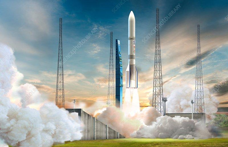 Ariane 6 launch, illustration