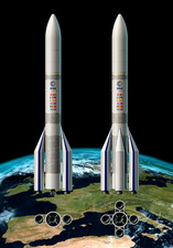 Ariane 6 launch system configurations, illustration