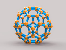 Buckyball molecule C60, illustration