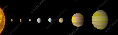 Kepler-90 planetary system, illustration