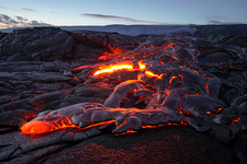 Lava flow from Kilauea, Hawaii