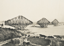 Forth Bridge construction, 1889