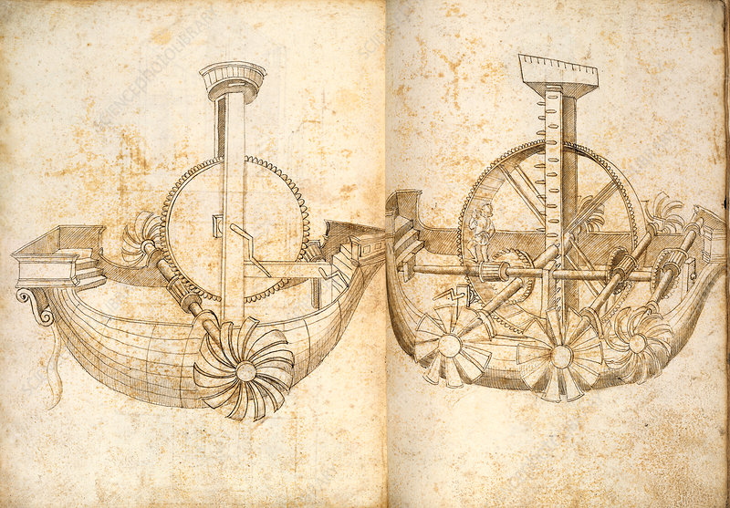 Water transport mechanisms, 15th century