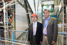 Tsung-Dao Lee and Peter Jenni at CERN, August 2007