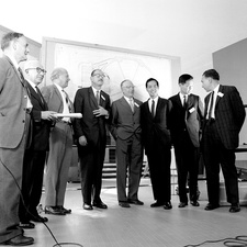 Nobel laureates at CERN symposium, July 1962