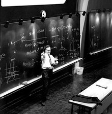 Richard Feynman's post-Nobel lecture at CERN, 1965