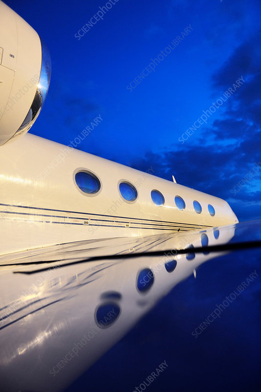 Gulfstream private jet, close-up