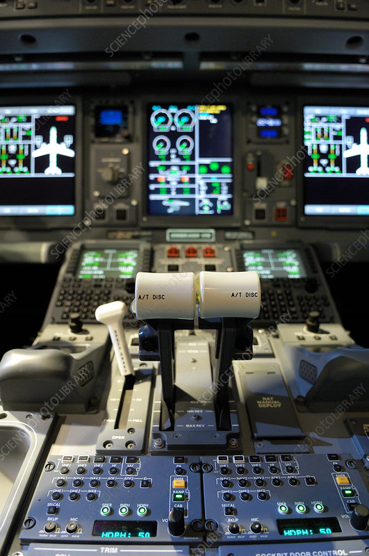 Narrow-body passenger aircraft cockpit