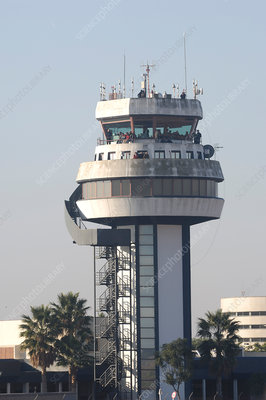 Air traffic control tower, Seville Airport, Spain