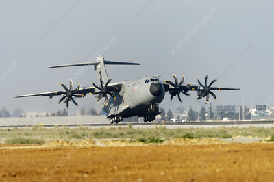 Airbus A400M military plane taking off
