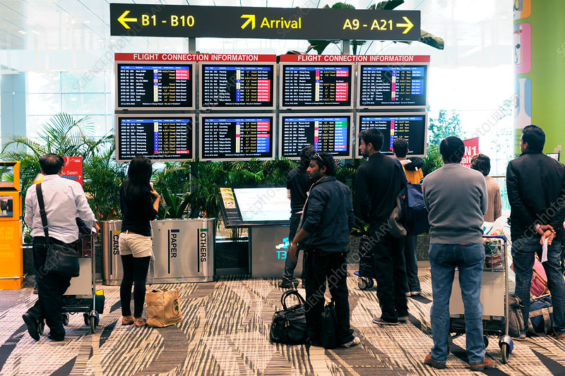 Airport departure boards