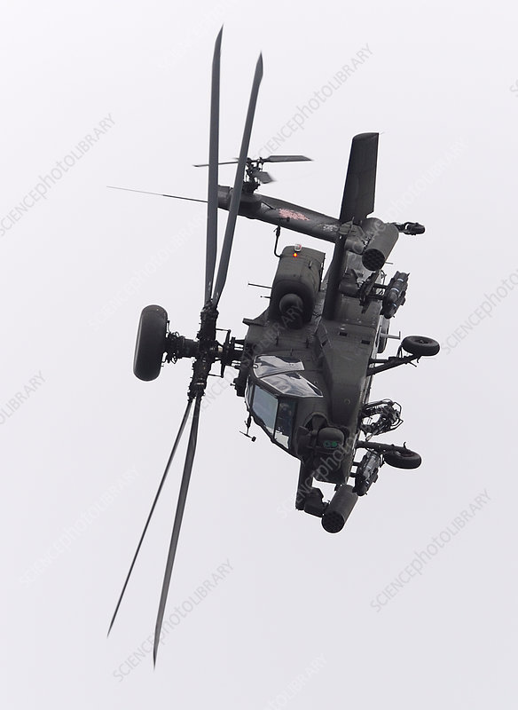 Apache helicopter in flying display
