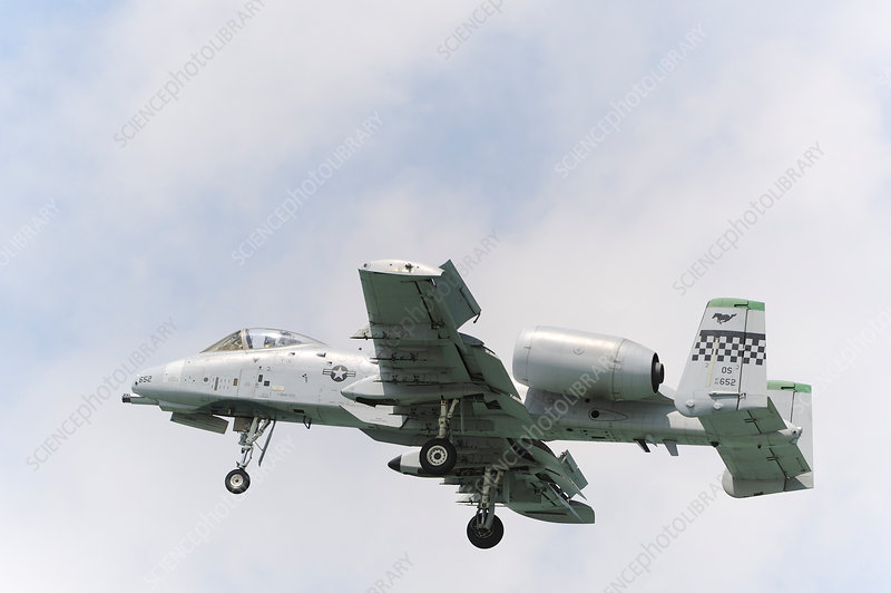 Fairchild A-10A Thunderbolt II attack aircraft in flight