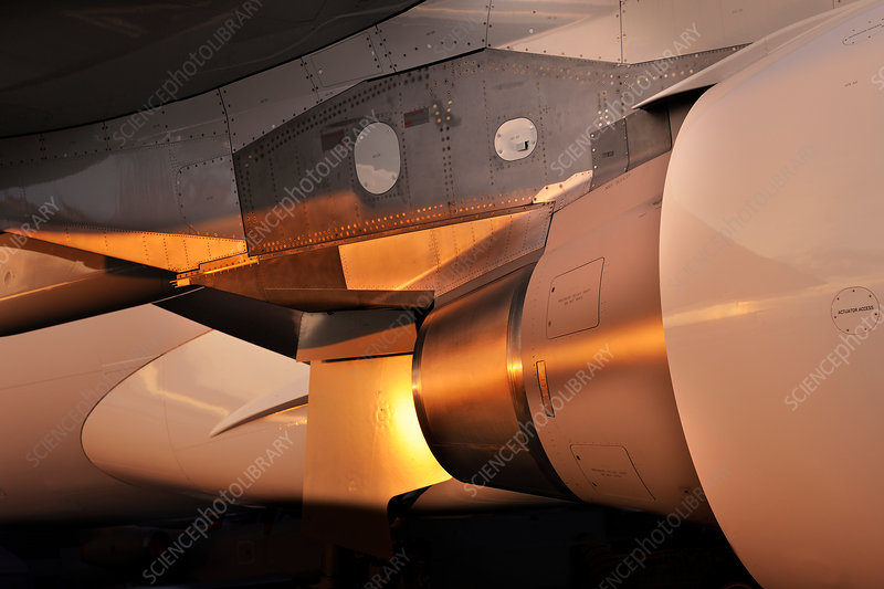 Airbus A330-200F engine exhaust