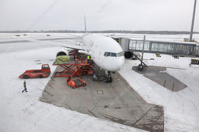 Airport in snow