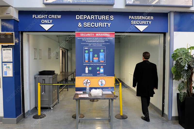 Airport departures and security
