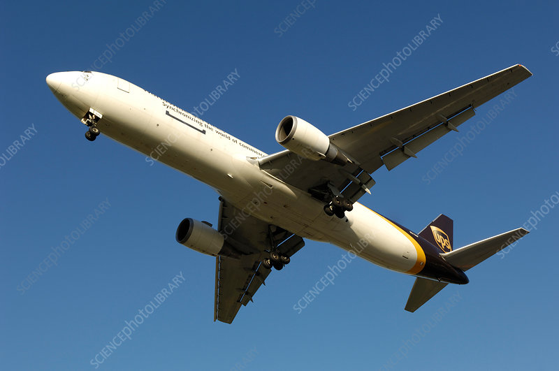 Boeing 767-300 freighter in flight
