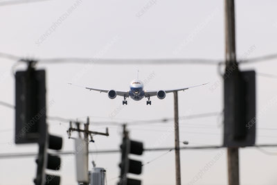 Boeing 787-8 Dreamliner prototype coming in to land