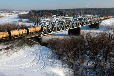 Freight train, West Siberian Railway