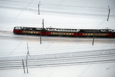 Commuter train, West Siberian Railway