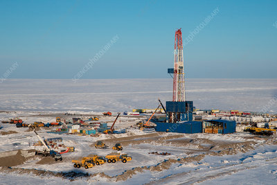 Oil and gas well, Siberia