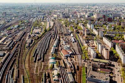 Railway depot, Moscow, Russia